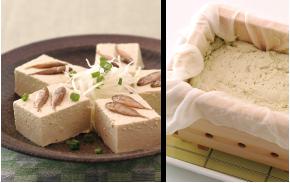 手作り豆腐の写真