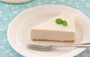 青汁レアチーズケーキの写真